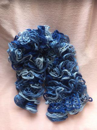 Cuello, bufanda, pasmina azul