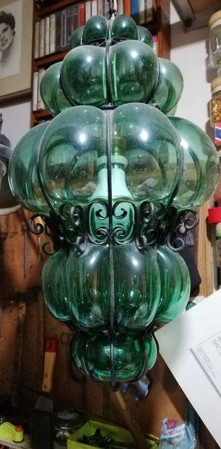 lampara artesanía española años 50