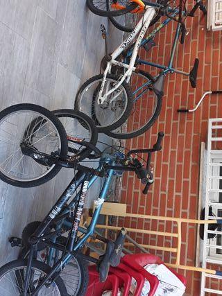 2 bicicletas bmx y 1 montabike