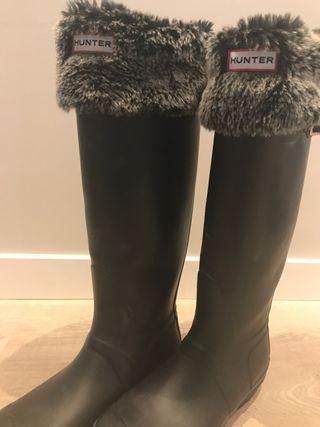 Botas Hunter con calcetines termicos