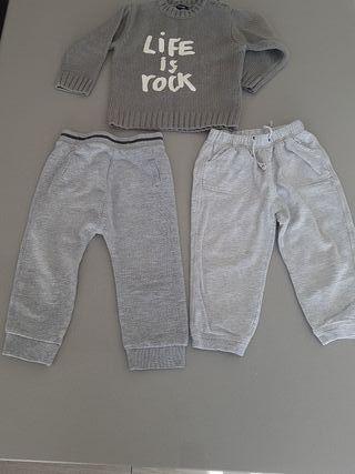 Pantalones y jersey 2 años