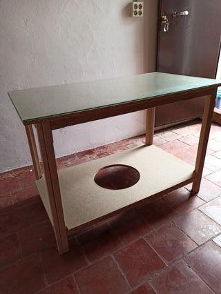 Mesa camilla rectangular