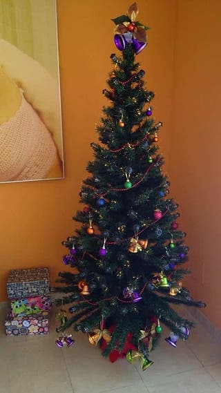 Árbol de navidad con fibra óptica