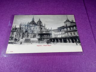 Segovia postal antigua. Plaza Mayor.