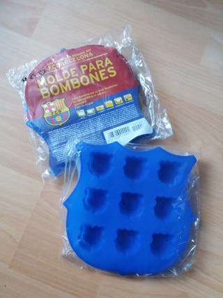 2 moldes silicona Barça