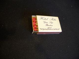 Caja de cerillas HOTEL RITZ