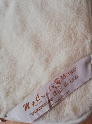 Cubre colchón de lana de oveja