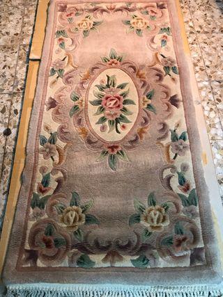 2 alfombras nudo lana española