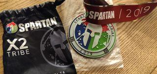Medalla Spartan Trifecta x2