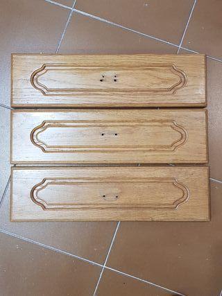 3 frentes cajón Roble