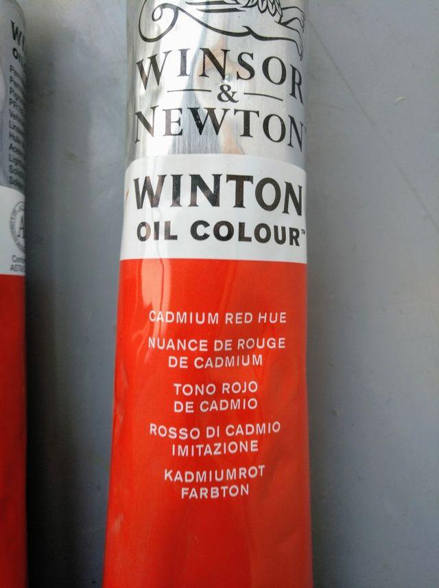 2 tubos óleo Winsor & Newton / Rojo cadmio