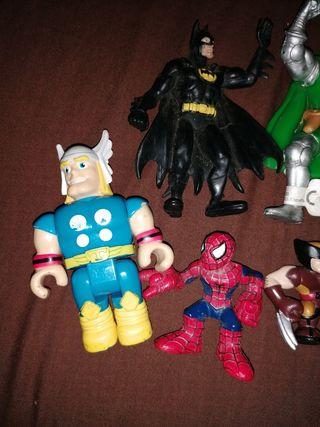 lote figuras superheroes