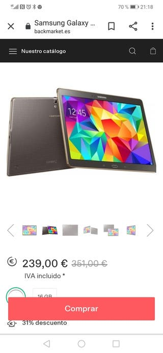 CHOLLO TABLET SAMSUNG GALAXY TAB S 10,5''