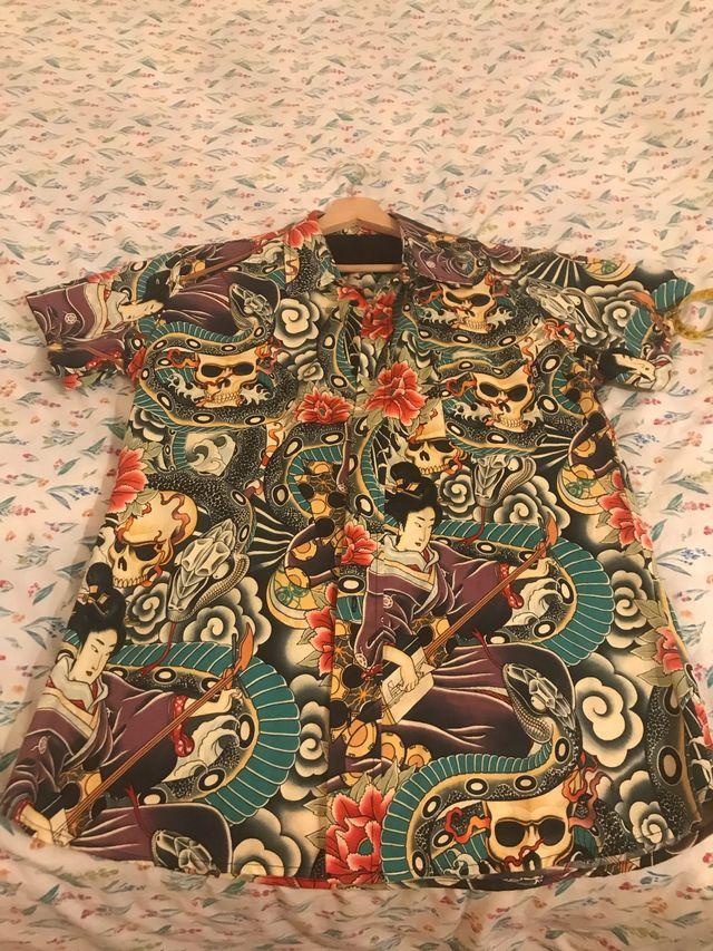 Camisa japonesa salon tatoo