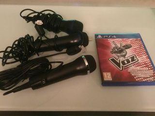 La Voz PS4, juego y 3 micros