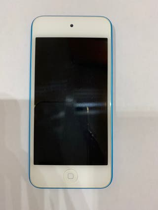 Ipod touch azul +cargador+pack de fundas