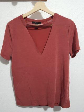 Camiseta naranja pastel