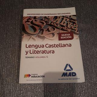 Libro Mad .Lengua y Literatura.Oposicion.