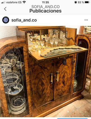 Mueble bar art decó