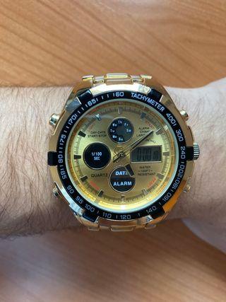 Reloj Quartz dorado