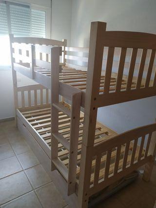 litera de tres camas