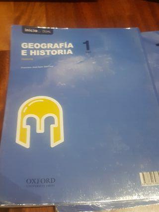 libros geografía e historia 1°E.S.O ed. Oxford