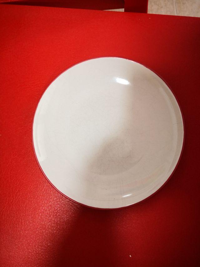 vajilla blanca-riñoja de loza