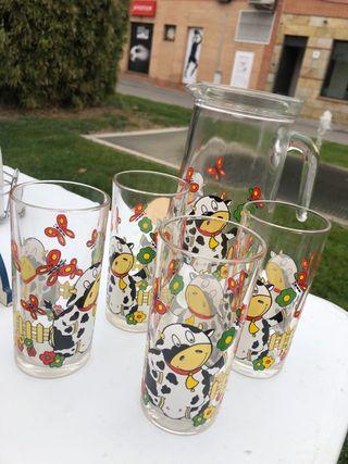 Juego jarra y vasos