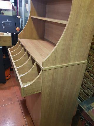 Mueble cubertero. Auxiliar de servicio de madera.