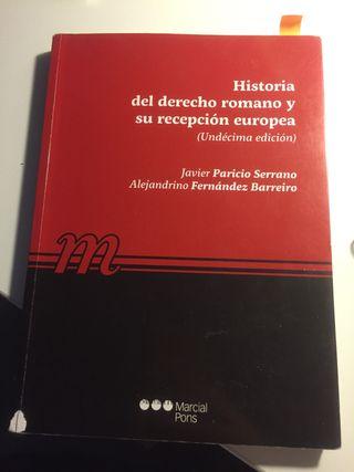 Libro Historia del derecho romano y su recepción