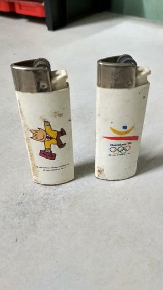 Vintage Olimpiadas Barcelona '92 Mecheros antiguo