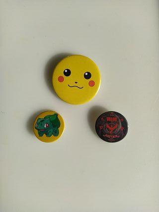 Lote 3chapas - Pokémon
