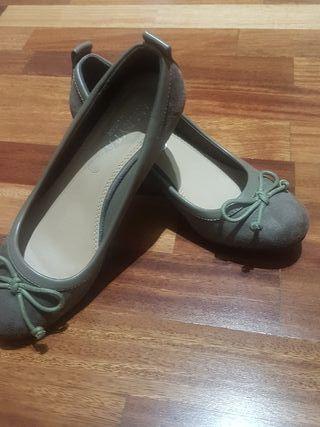 zapatos ante tacón goma Mari paz t.38