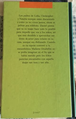 """Libro """"Madame Doubtfire"""""""