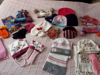 guantes/manoplas, bufandas y gorros