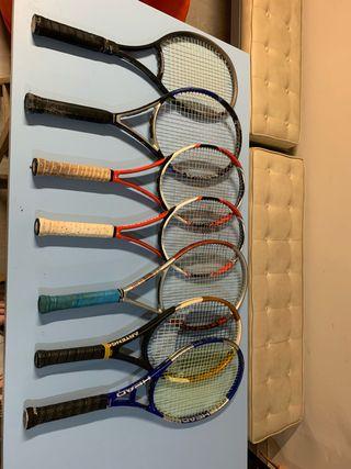 Raquetas de tenis x7
