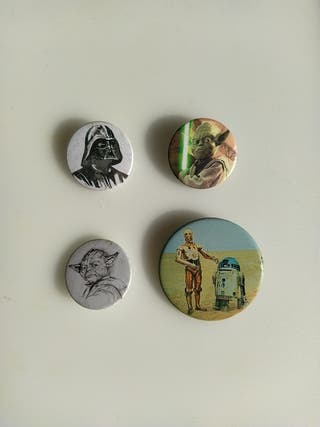 Lote 4 chapas - Star Wars