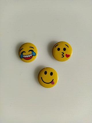 Lote 3 chapas - Emoticonos