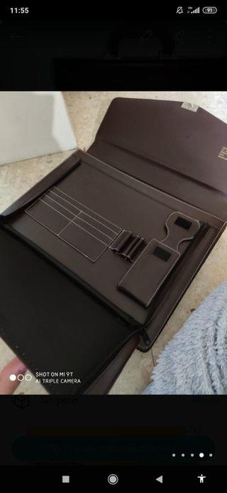 precioso maletín ejecutivo de piel