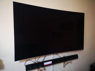 """TV LG 55"""" curve y barra de sonido LG"""