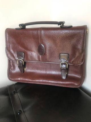 Bolso maletín de piel
