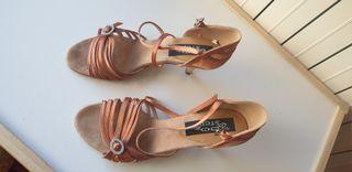 zapatos salsa baile solo puestos en 1 ocasion