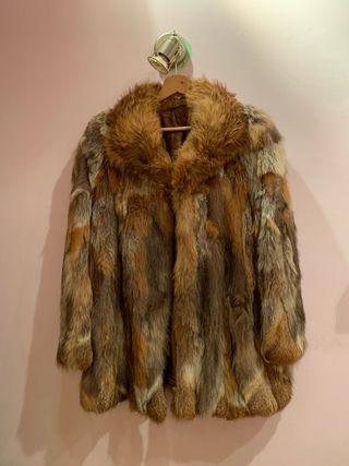 Abrigo de pelo de zorro