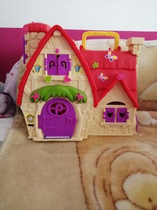casa de cuentos pin y pon + coche + muñecas