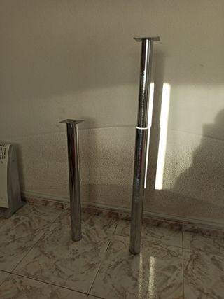 Patas de aluminio extensibles