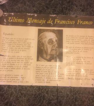 TESTAMENTO DE MUERTE FRANCISCO FRANCO
