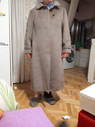 abrigo de pelo de camello sintetico