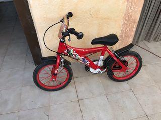 Bicicleta niño 16 pulgadas rayo mcqueen