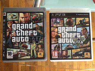 Ps3 GTA 4 y 5