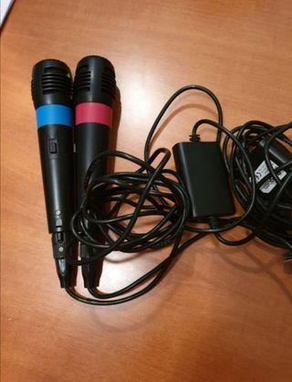 Lote de 2 micrófonos videojuegos y Wii
